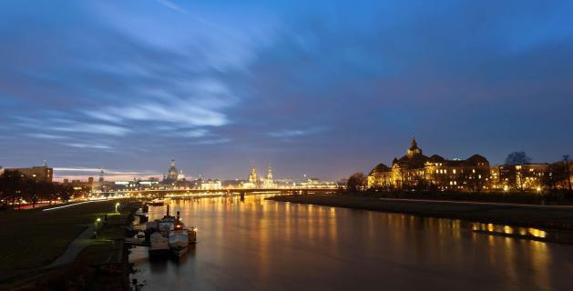 Dresdner Skyline am Abend