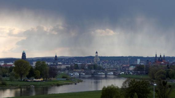 Aprilwetter in Dresden