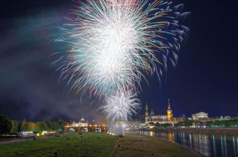 Stadtfest Dresden, Abschlussfeuerwerk