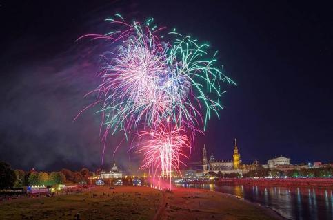 Abschlussfeuerwerk Stadtfest Dresden