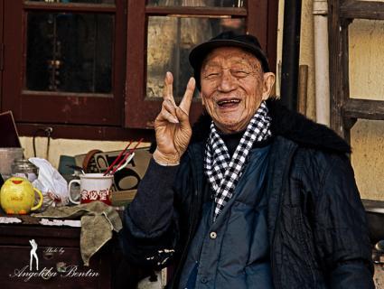Alter Mann in Shanghai