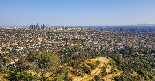 Panorama- Ausblick auf Los Angeles