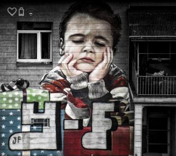 Graffiti auf Hauswand in XXL