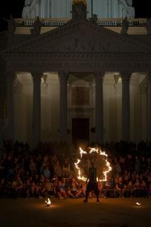 Feuershow in Wien