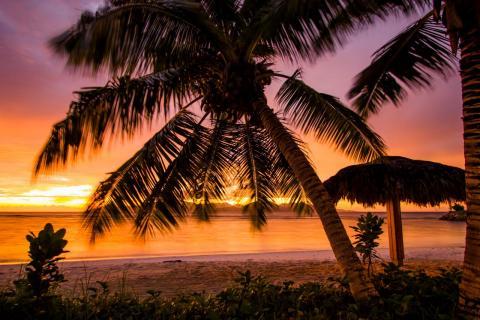 Sonnenuntergang auf La Digue