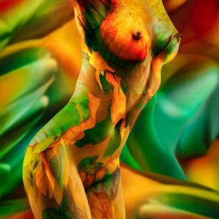 tropical nude (fine nude art bodypainting)