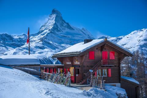 Tufternalp oberhalb Zermatt mit Matterhorn