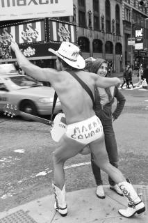 Naked Cowboy am Time Square