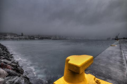 Am Hafen von Horta Fajal