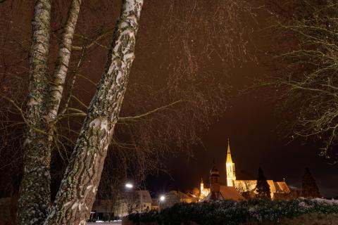 Pleystein bei Nacht