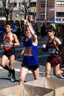 Erfrischung beim Tokyo Marathon