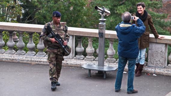Touristen am Montmatre
