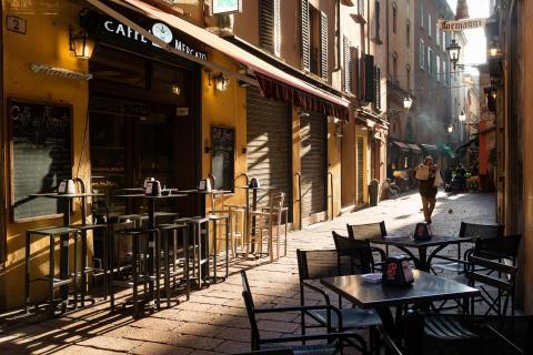 Am Morgen in Bologna