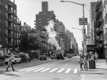 Rauch in der Stadt NYC
