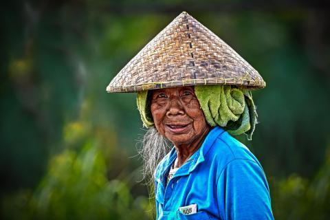 Reisarbeiterin