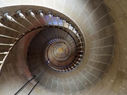 Treppe zum Mittelpunkt