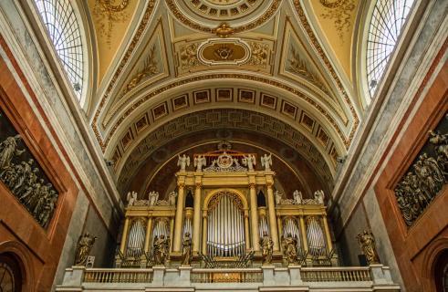 In der Basilika von Esztergom (Ungarn)