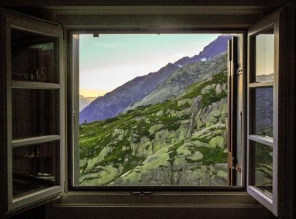 Der Blick aus dem Fenster