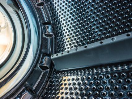Blick aus der Waschmaschine