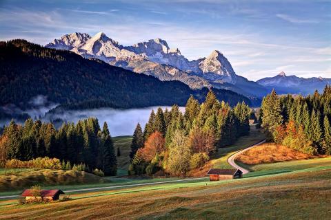 Herbst unter der Zugspitze