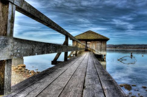 Bootshaus am Kochelsee