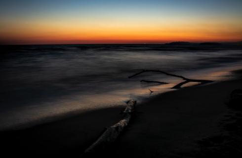 Abendstimmung am Mittelmeer