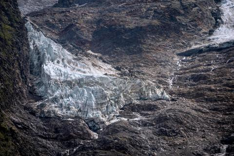 Gletscherstück am Mont Blanc