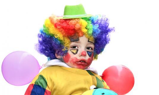 kleiner Clown ganz groß