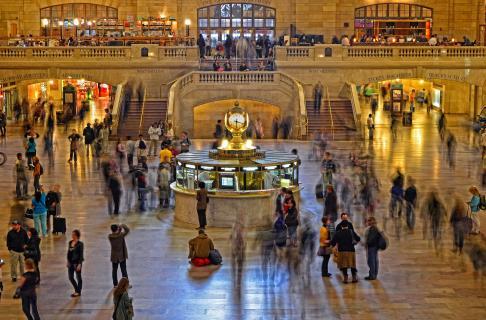 im Grand Central unterwegs