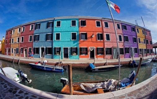 Fischerhäuser am Kanal