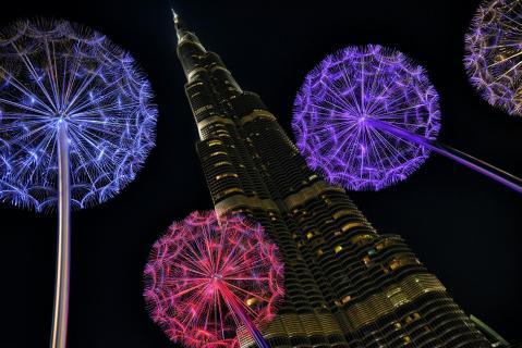 Dubai nachts