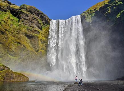 ... am Wasserfall