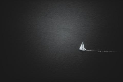 Allein auf hoher See!