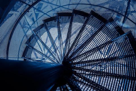 Tetraeder-Treppe