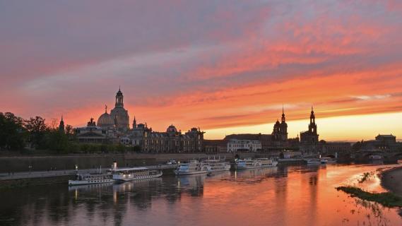 Dresden im Abendrot