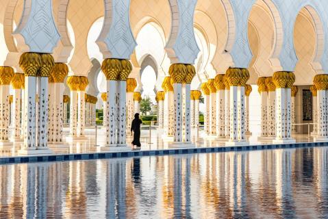 Spiegelung Säulengang