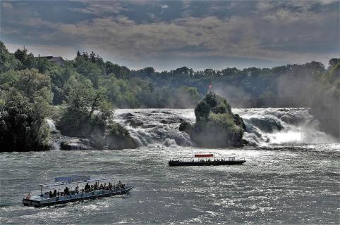 Rheinfall im Spätsommer
