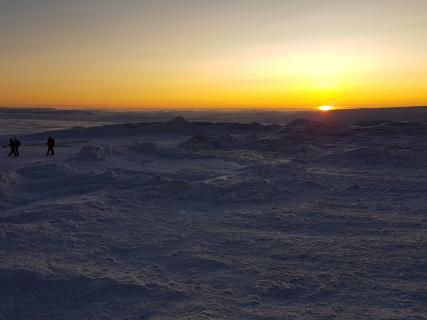 Sonne am Nordkapp