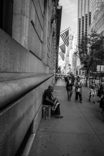 Straßenmusiker in New York