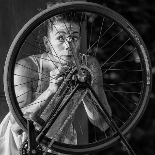 Blick durchs Rad