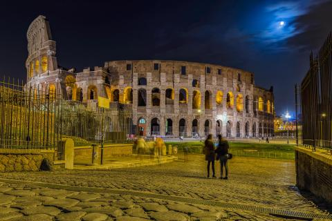 Watching the Colosseum at Night