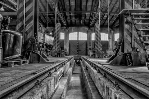 Altes Eisenbahnausbesserungswerk