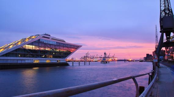 Sunset at Dockland
