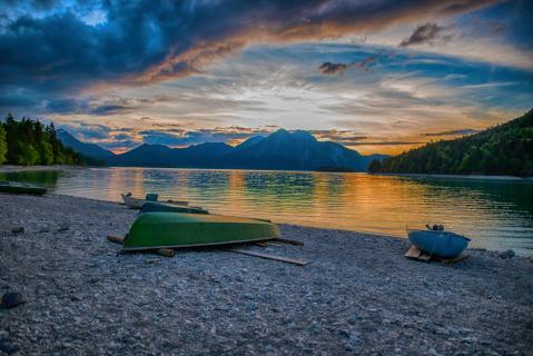 Abendrot am Walchensee