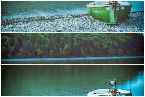 Fischerboot am Walchensee