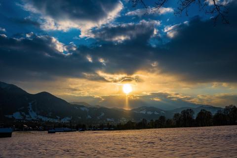 Sonnenuntergang in Lenggries