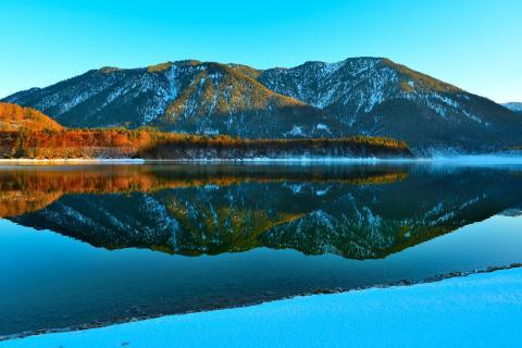 Sylvensteinsee Spiegelung Winter BBB 0984a_100