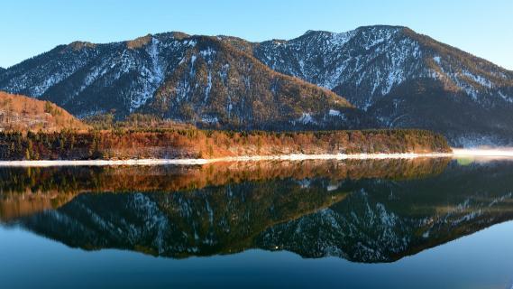 Sylvensteinsee Spiegelung Berg BBB 0956a_104