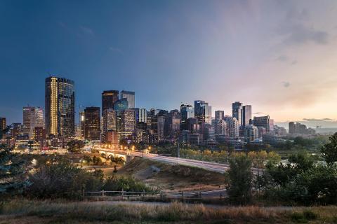 Calgary Day to Night