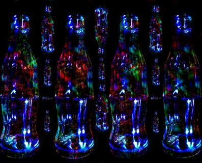 Cola Bottle Picture like Gravity Stile
